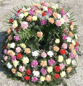 Kranz für Begräbnis